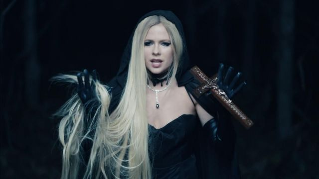The black cape worn by Avril Lavigne in her video clip I Fell In Love With The Devil