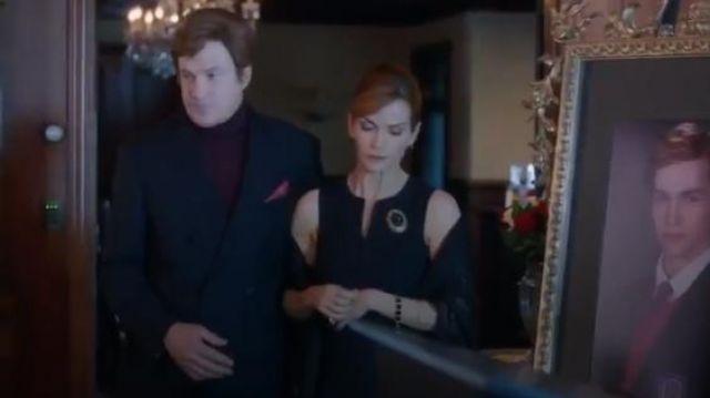 Ann taylor Tropical Wool Split Neck Sheath Dress worn by Penelope Blossom (Nathalie Boltt) in Riverdale (Season 01 Episode 05)
