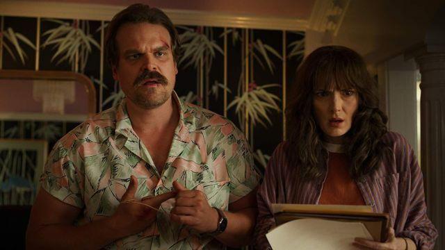 The hawaiian shirt of Jim Hopper (David Harbour) in Stranger Things Season 3 Episode 6