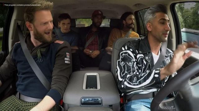 Patrick Church All Over Me Leather Jacket worn by Tan France in Queer Eye (S04E04)