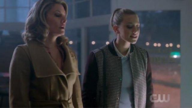 Zara Brown Sleeve Checked Bomber Jacket worn by Betty Cooper (Lili Reinhart) in Riverdale (Season 01 Episode 09)