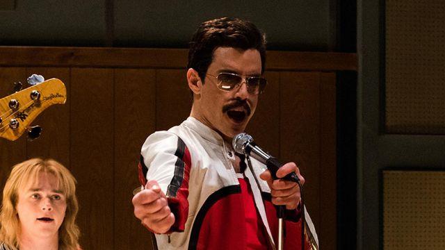 White and Red Leather Jacket worn by Freddie Mercury (Rami Malek) in Bohemian Rhapsody