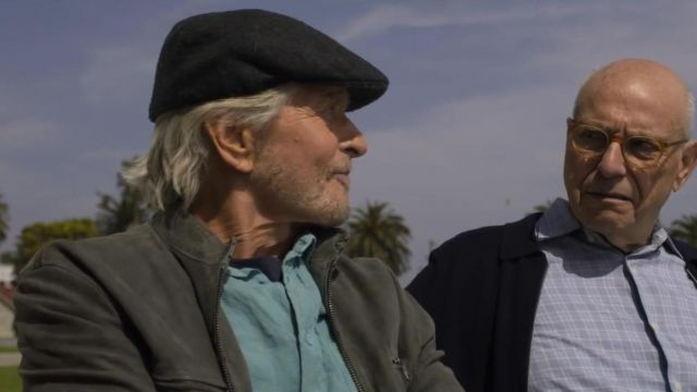 Black Wool Cap Hat worn by Sandy Kominsky (Michael Douglas) in The Kominsky Method (S01E02)