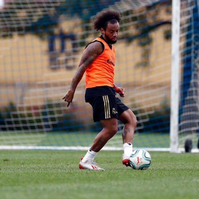The adidas football Boots X 19+ Marcelo Vieira da Silva