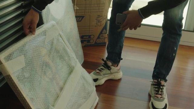 La paire de sneakers Dior portée par Moha La Squale dans son clip Ma belle