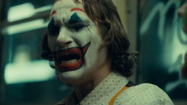 The mask of Arthur Fleck / Joker (Joaquin Phoenix) in Joker