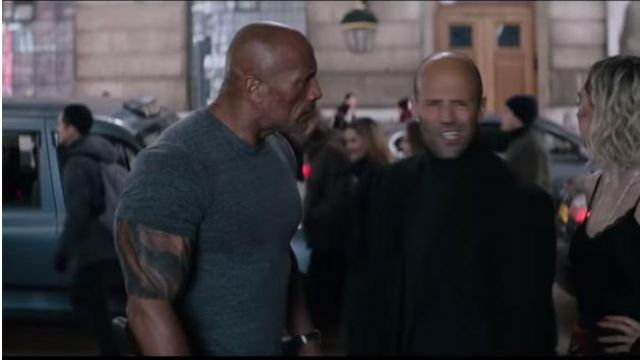 Gray T Shirt Worn By Hobbs Dwayne Johnson In Fast The