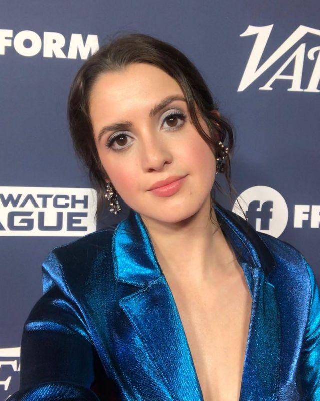 The blazer blue metallic Laura Marano on her account