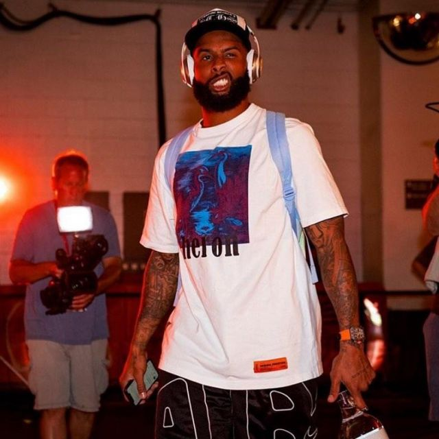 new product 05142 77a6a Heron Preston Birds T-Shirt White worn by Odell Beckham Jr ...