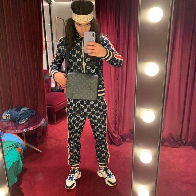 La veste Gucci portée par Moha La Squale sur son compte Instagram @mohalasquale