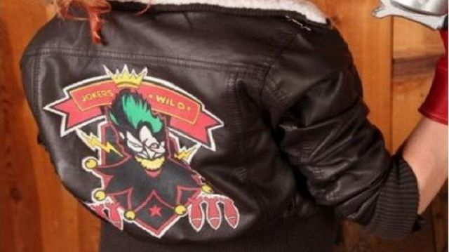 96490a5f6 Bombshell Harley Quinn Brown Leather Jacket worn by Harley Quinn ...
