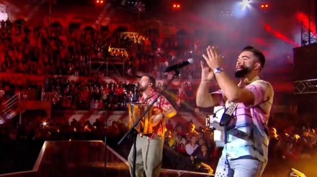The Printed Shirt with short Sleeves (Kendji Girac) in The Song