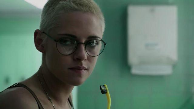Round black eyeglasses worn by Norah (Kristen Stewart) in Underwater