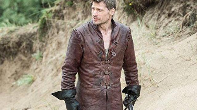 Leather jacket worn by Jaime Lannister (Nikolaj Coster-Waldau) in Game of Thrones (S01E09)