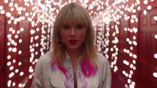 The bomber printed for Taylor Swift in Taylor Swift - Lover