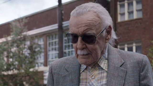 Black aviator sunglasses worn by Shrinking Car Owner (Stan Lee) in Ant-Man and the Wasp