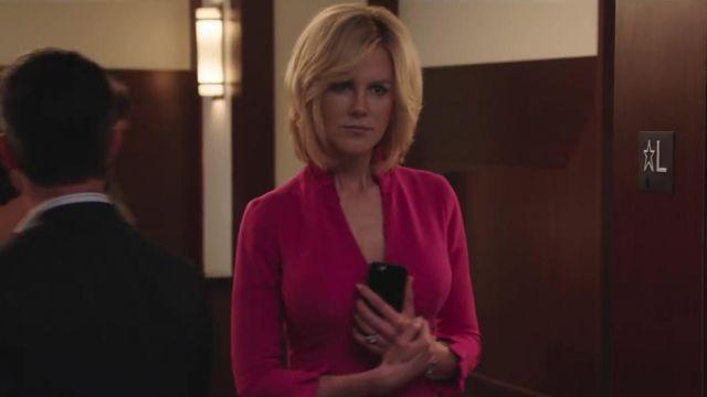 Rose robe de travail portés par Gretchen Carlson (Nicole Kidman) en Bombe