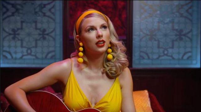 Yellow Ball Drop Earrings worn by Taylor Swift in Taylor Swift - Lover