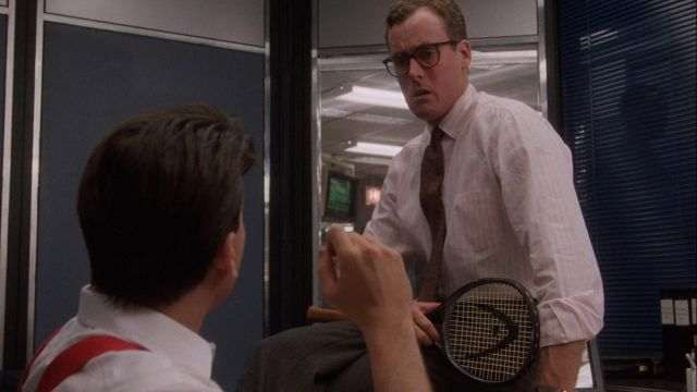 Head tennis racket used by Marvin (John C. McGinley) in Wall Street