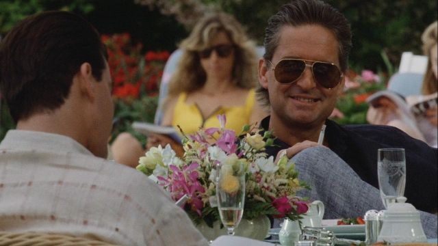 Premiere de Cartier Sunglasses worn by Gordon Gekko (Michael Douglas) in Wall Street