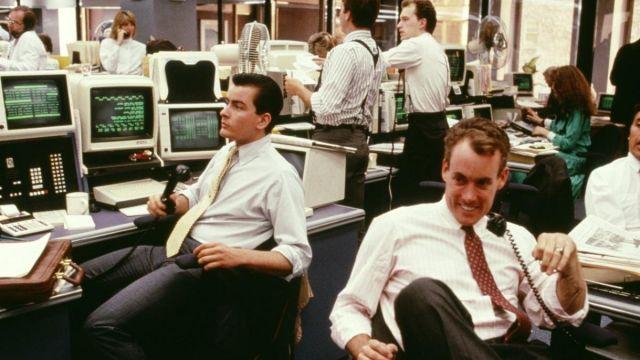 Sharp printing calculator of Bud Fox (Charlie Sheen) in Wall Street