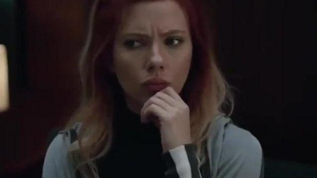 Gray hooded jacket / hoodie worn by Natasha Romanoff / Black Widow (Scarlett Johansson) in Avengers: Endgame