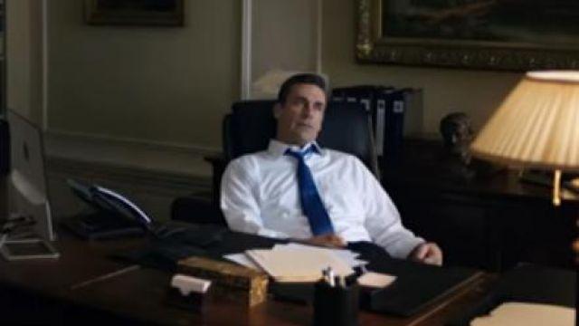 Blue Tie worn by Jon Hamm in THE REPORT Trailer (2019) Adam Driver, Amazon prime drama series