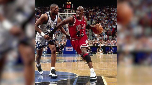 Nike Air Jordan 11 Concorde worn by Michael Jordan in the
