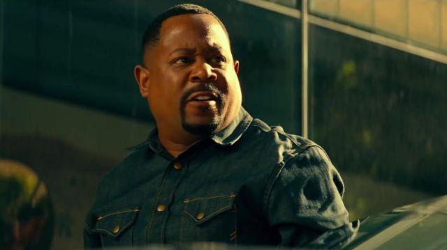 Indigo denim shirt worn by Detective Marcus Burnett (Martin Lawrence) in Bad Boys for Life