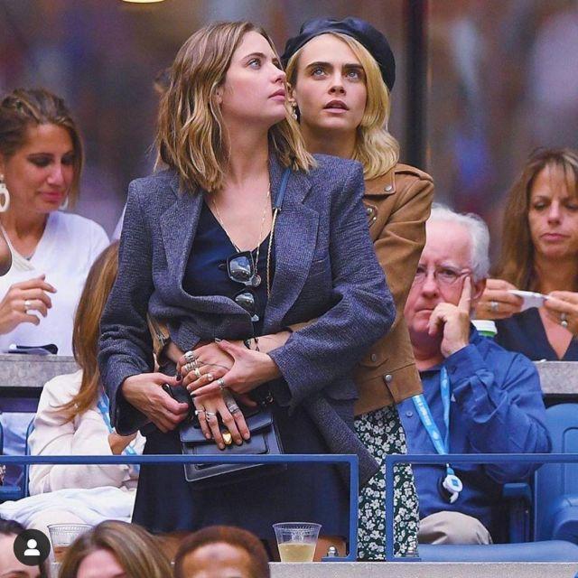 Isabel Marant Etoile blazer worn by Ashley Benson at the Ladies's Singles Last Match of the Us Open Metropolis September 7, 2019