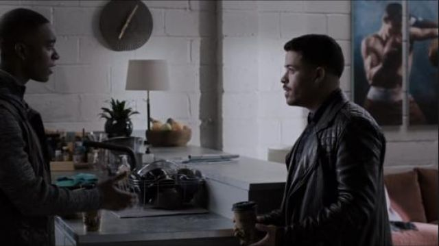 All Saints black conroy leather biker jacket worn by Tony Padilla (Christian Navarro) in 13 Reasons Why (S03E11)