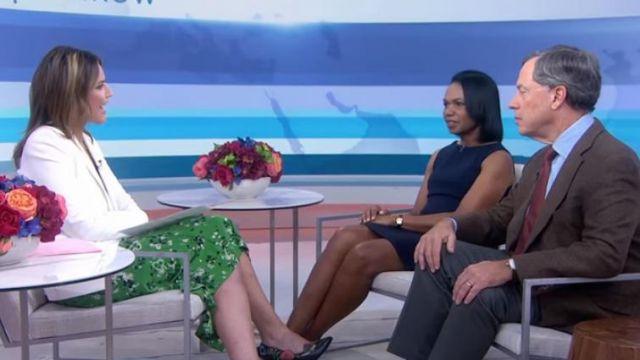 Veste blanche Cosmo double portée par Savannah Guthrie dans l'émission Today SEPTEMBER 11, 2019