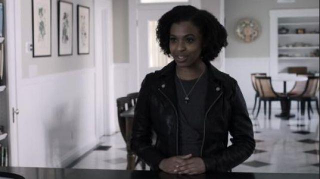 Club Monaco grey seleen knit dress worn by Ani Achola (Grace Saif) in 13 Reasons Why (S03E13)