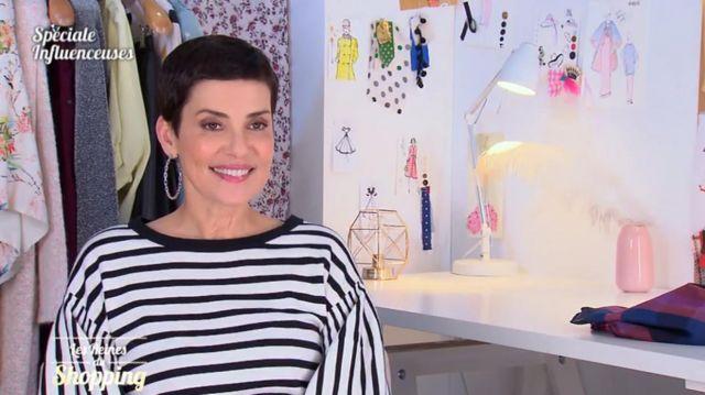 Le pull marinière à rayures manches bouffantes de Cristina Córdula dans Les reines du shopping
