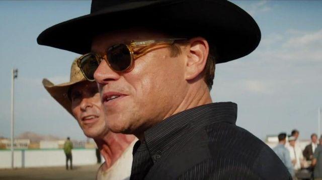 Entourage de 7 Beacon 1020 Lunettes de soleil portées par Carroll Shelby (Matt Damon) dans Ford v. Ferrari