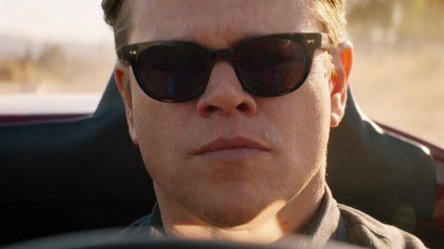 "Spectaculars Black ""Benjamin"" sunglasses worn by Carroll Shelby (Matt Damon) in Ford v. Ferrari"
