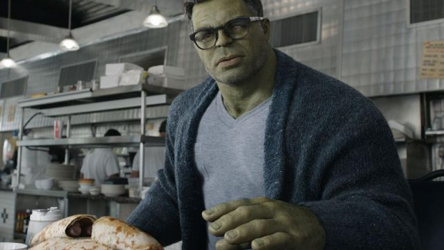 Blue cardigan worn by Smart Hulk (Mark Ruffalo) as seen in Avengers: Endgame