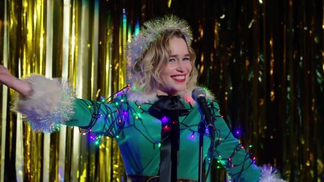 Multi color christmas light decoration used by Kate (Emilia Clarke) in Last Christmas