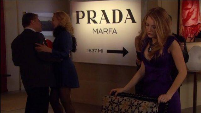 Tableau Prada Marfa de Serena van der Woodsen (Blake Lively) dans Gossip Girl (S01E07)