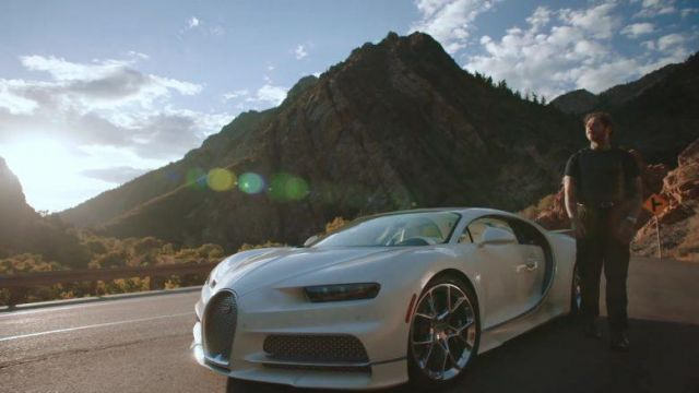 Bugatti Chiron Sports Car used by Post Malone in his Saint-Tropez music video