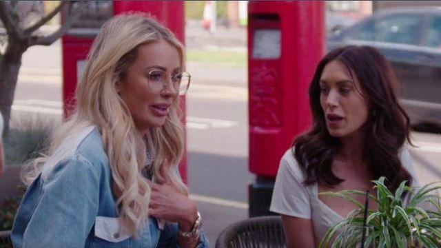 Relmi Denim Ceinturée Robe Bleue portée par Olivia Attwood, Le Seul Moyen Est d'Essex Saison 25 Episode 2