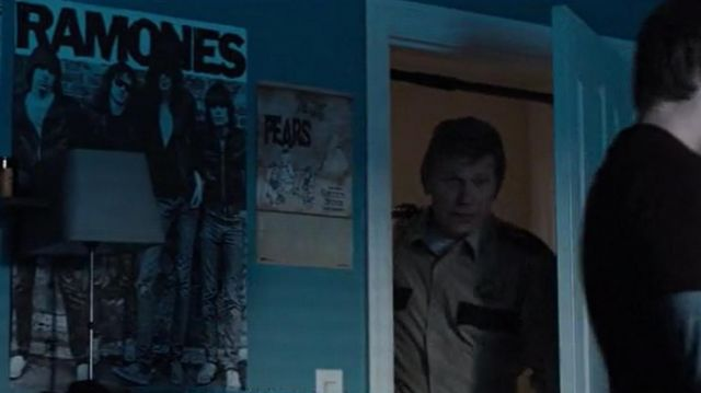 The poster of the ramones overview in the room of Alex Standall (Miles Heizer) in 13 Reasons Why (S03E01)
