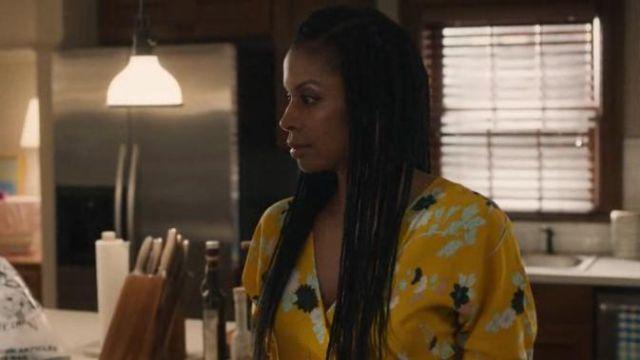 Diane von furstenberg yellow eloise dress worn by Beth Pearson (Susan Kelechi Watson) in This Is Us Season 4 Episode 1