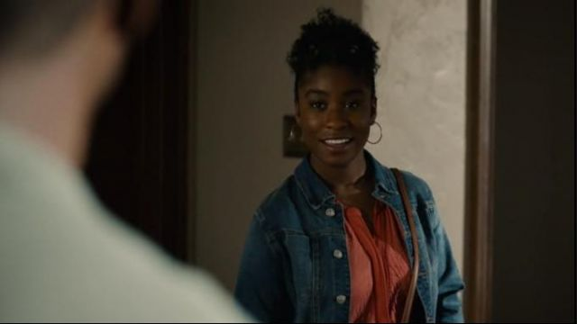 L'Agence blue janelle jacket worn by Deja (Lyric Ross) in This Is Us Season 4 Episode 1
