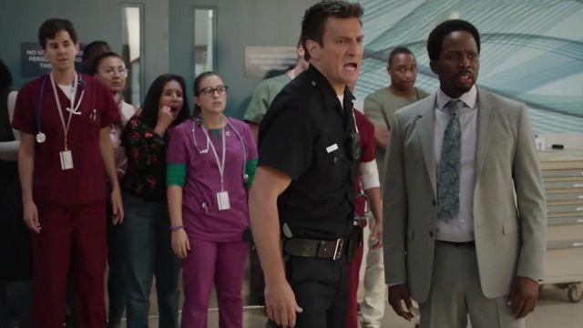 Police uniform costume worn by John Nolan (Nathan Fillion) in The Rookie Season 2 Episode 2