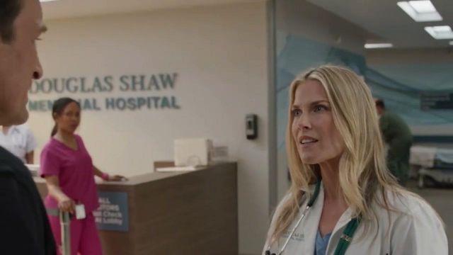 Doctor stethoscope of Janice (Ali Larter) in The Rookie Season 2 Episode 2