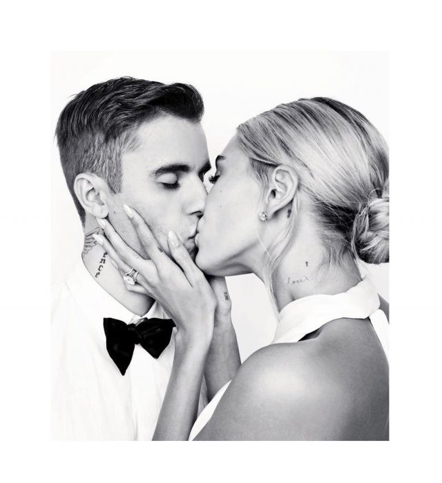 Tiffany & Co. Solitaire Diamond Earrings worn by Hailey Baldwin Wedding to Justin Bieber September 30, 2019