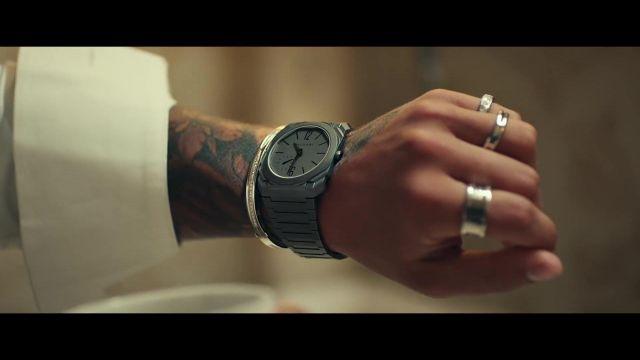 Montre Bvlgari grise portée par Maluma dans le clip Maluma, J Balvin - Qué Pena (Official Video)