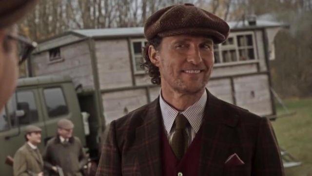 La casquette en tweed marron de Mickey Pearson (Matthew McConaughey) dans The Gentlemen