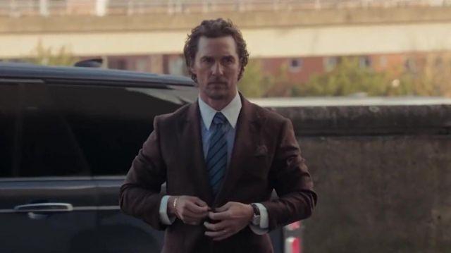 La cravate rayée de Mickey Pearson (Matthew McConaughey) dans The Gentlemen
